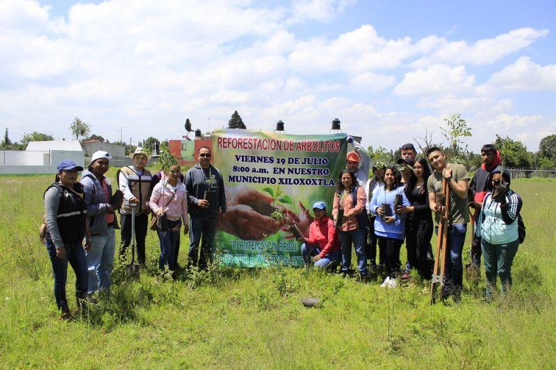 Realizan reforestación en Xiloxoxtla